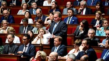 Des députés La République en marche à l'Assemblée nationale.