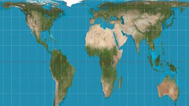 La nouvelle carte Gall-Peters.