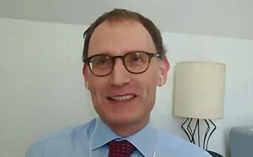 Capture d'écran du professeur Neil Ferguson de l'Imperial College de Londres le 13 mai 2020