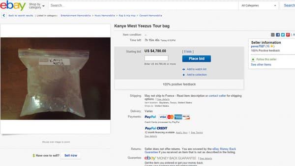 De l'air peut-être respiré par Kanye West, en vente sur eBay.