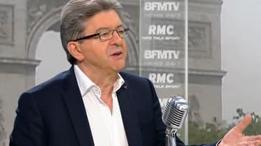 Jean-Luc Mélenchon, était l'invité de BFMTV, ce lundi matin