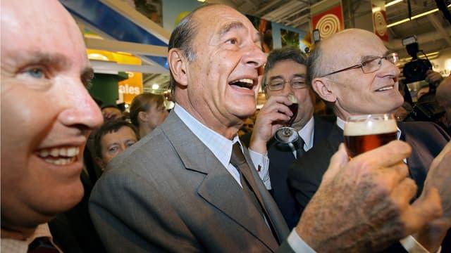 Jacques Chirac au Salon de l'agriculture en 2007.