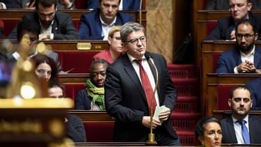 Jean-Luc Mélenchon à l'Assemblée nationale
