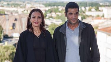 Le réalisateur Nabil Ayouch et l'actrice Loubna Abidar au Festival du film Francophone d'Angoûleme.