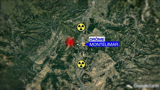 La carte de la Drôme où le séisme a eu lieu.