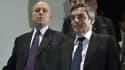 Alain Juppé et François Fillon au lancement de DroitLib, le 25 janvier 2017.