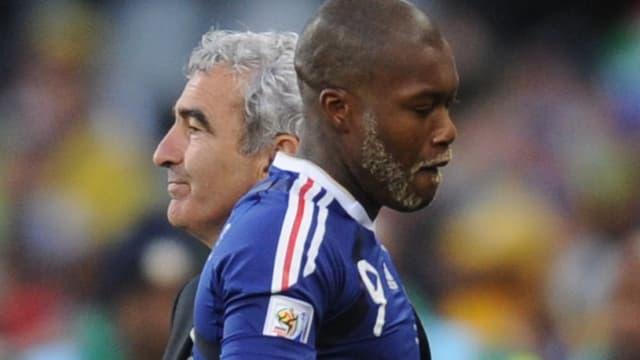 Raymond Domenech et Djibril Cissé