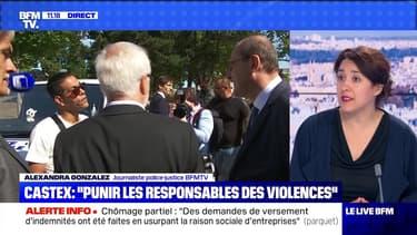 """Castex : """"Punir les responsables des violences"""" (2) - 10/07"""