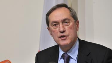 Claude Guéant en conférence de presse, le 26 avril 2012.