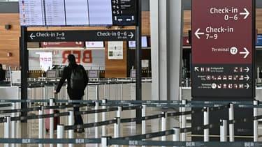 A l'aéroport Willy-Brandt de Berlin-Brandebourg, le 20 février 2021