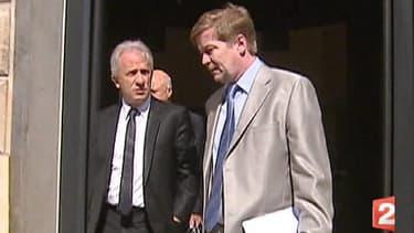 Pierre Estoup, ancien haut magistrat et Maurice Lantourne, avocat de Bernard Tapie.