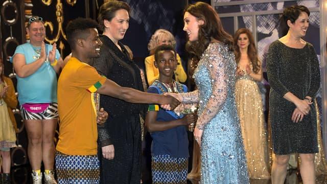 Kate Middleton lors du Royal Variety Performance Show à Londres, le 24 novembre 2017