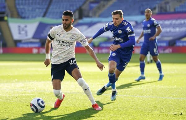 Riyad Mahrez face à Leicester City