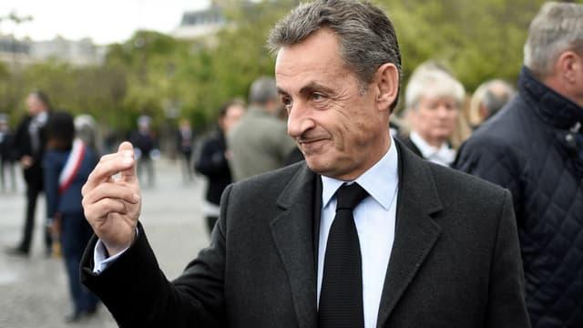 Nicolas Sarkozy le 8 mai 2017 à Paris