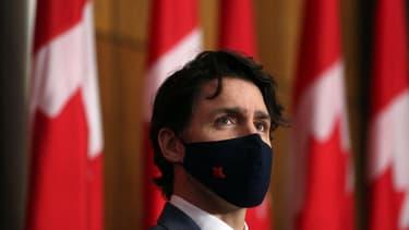 Le Premier ministre canadien Justin Trudeau, à Ottawa le 16 avril 2021