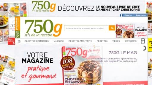 750 grammes est le second site français dans le domaine de la cuisine.