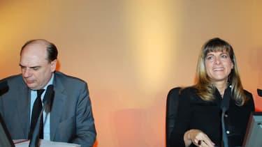 Alain-Pierre Raynaud (ici à gauche) aux cotés d'Anne Lauvergeon (à droite).