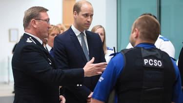 Le prince William à Manchester le 2 juin 2017
