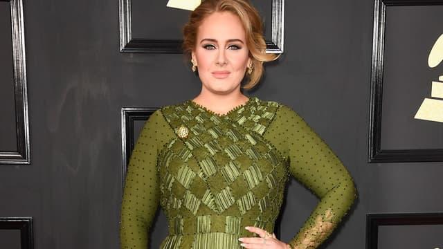 La chanteuse Adele en février 2017 lors des Grammy Awards