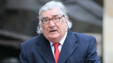 Jean-Claude Birsseau aux funérailles de Pierre Schoendoerffer à Paris, le 19 mars 2012
