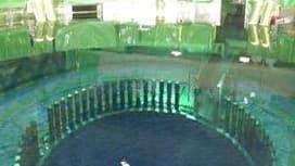 L'intérieur du réacteur numéro 4 de la centrale nucléaire Daiichi de Fukushima, dans le nord-est du Japon.