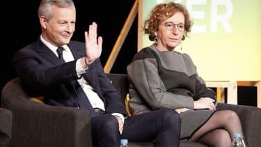 De gauche à droite, le ministre de l'Économie Bruno Le Maire et la ministre du Travail Muriel Pénicaud.