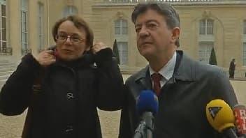 Jean-Luc Mélenchon à l'Elysée, le 30 novembre 2012.