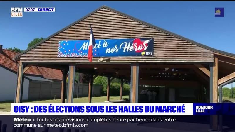 Nord: un bureau de vote en plein air à Oisy, pour les élections de ce dimanche