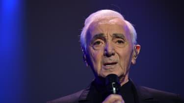 Le chanteur Charles Aznavour.