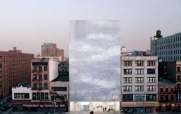 nAOM a transformé la façade de l'enseigne suédoise H&M
