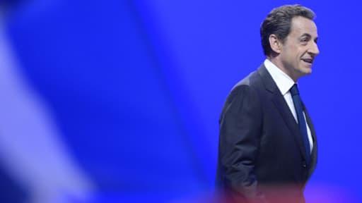 Nicolas Sarkozy lors de ses adieux à la vie politique, le 6 mai 2012.