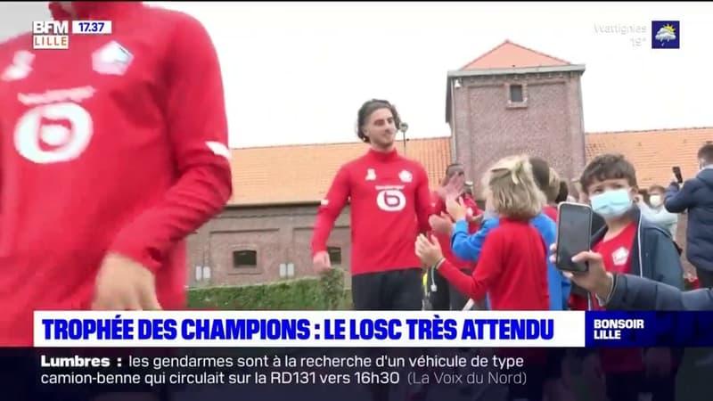 Le LOSC s'entraîne devant son public deux jours avant le Trophée des champions contre le PSG