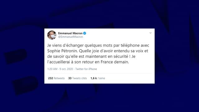 Emmanuel Macron accueillera l'ex-otage Sophie Pétronin à son retour en France ce vendredi
