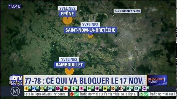 Les points de rassemblement dans les Yvelines