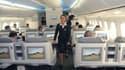 L'intérieur d'un Boeing 747.