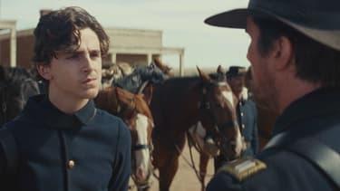 """Timothée Chalamet et Christian Bale dans """"Hostiles"""" de Scott Cooper, en salles le 14 mars 2018"""