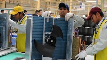 Le salaire des ouvriers indiens, ici dans une usine Panasonic, devrait quadrupler d'ici à 2030.