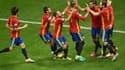 Les joueurs de l'Espagne autour d'Alvaro Morata