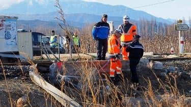 Les pompiers sont arrivés les premiers sur les lieux de la collision à Millas.
