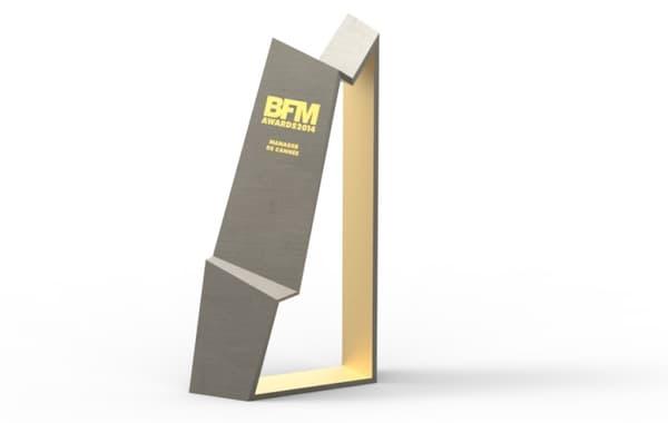 Le nouveau trophée des BFM Awards, designé par Ora Ito