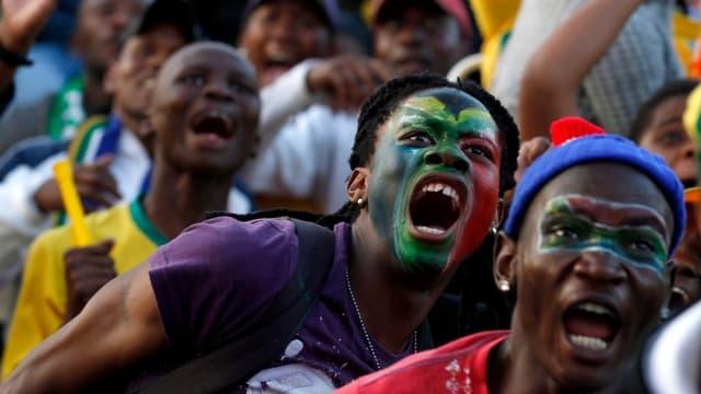 Les supporteurs sud-africains étaient à l'unisson derrière les Bafana Bafana