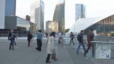 Le quartier des affaires de La Défense à l'ouest de Paris.