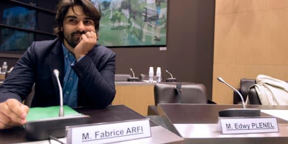 Le journaliste de Mediapart Fabrice Arfi, mardi, lors de son audition.