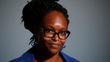 Sibeth Ndiaye lors d'une conférence de presse à l'Elysée, le 17 juin 2020