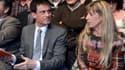 Sophie Dessus assise à côté de Manuel Valls, le 19 mars 2015.