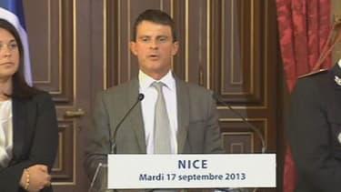 Manuel Valls à Nice le 17 septembre.