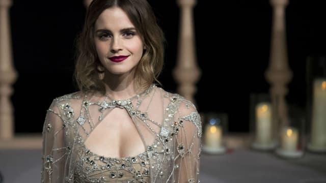 """Emma Watson à la première de """"La Belle et la Bête"""" à Shanghaï, le 27 février 2017."""