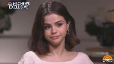 Selena Gomez lors de son interview à la télévision américaine pour évoquer la greffe de rein subie cet été