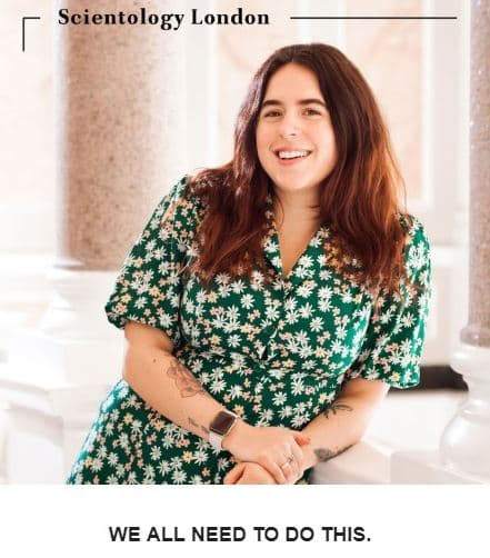 "Isabella Cruise dans la  newsletter ""Scientology London"""