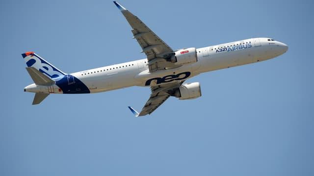 L'A321neo de l'avionneur Airbus.
